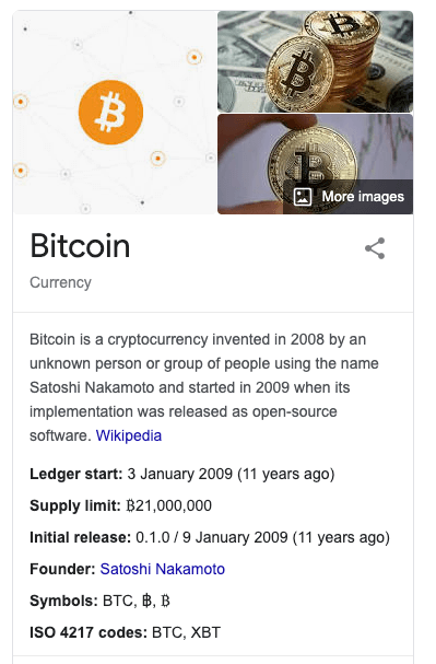 bitcoin knowledge graph