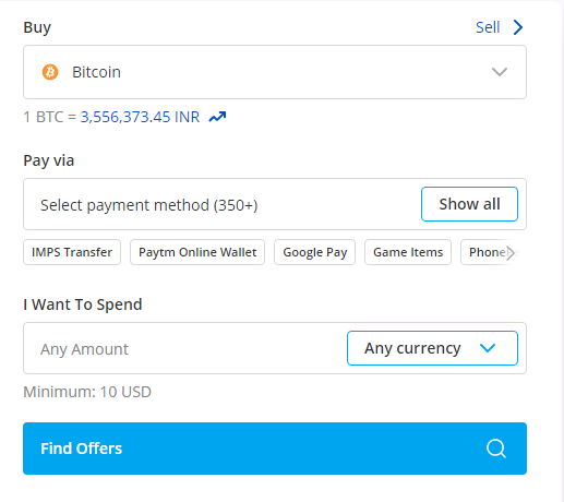 Buy and sell crptocurrencies instantly on Paxful