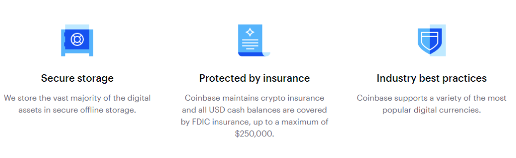 Coinbase features